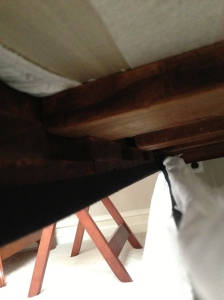 Slats, underside of the bed