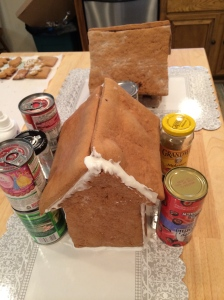 Don't you use canned goods to make your gingerbread houses?