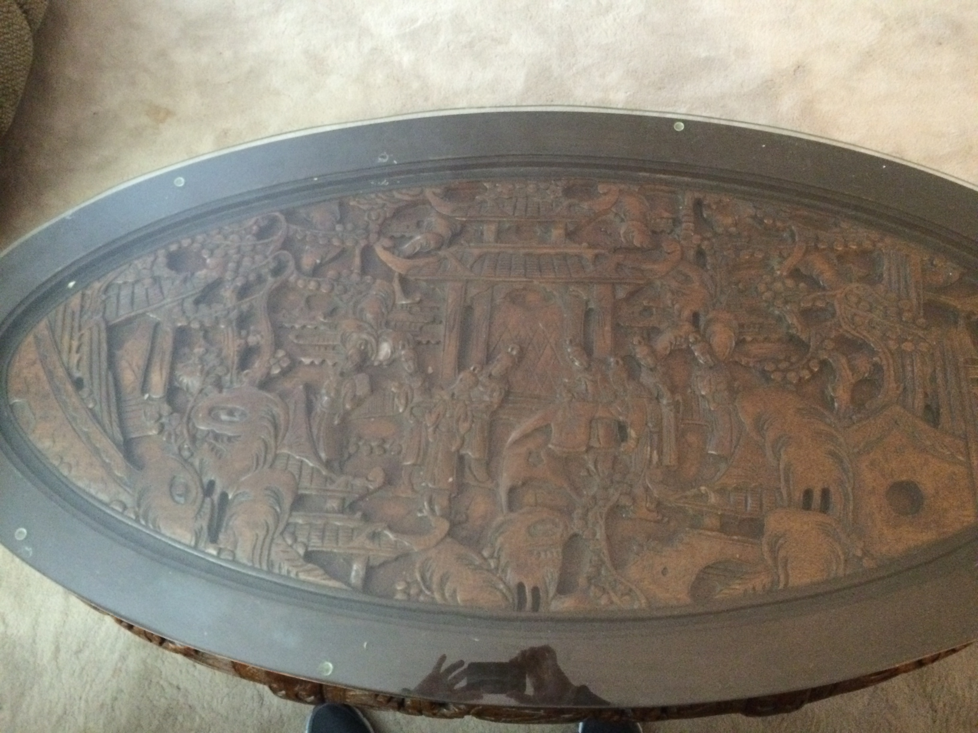 Chinese carved table