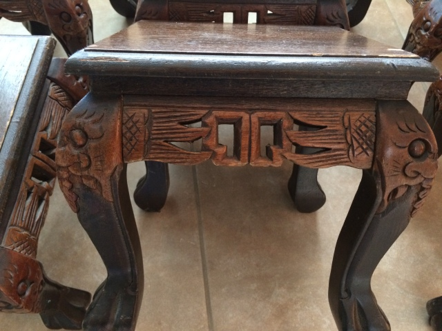 Side view of footstool